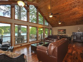 Lake Front Home, Theater Room, Dock, Mountain View, Hot Tub, Swim-Boat-Fish!