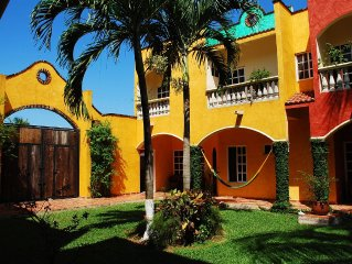 Vibrant colors with Mexican Colonial Style: An Oasis in the Heart of San Miguel