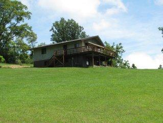 Lost River Swiss Cottage/10 acres/streams/foot bridge/sweeping views/brook trout