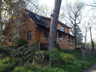 Gorgeous Log Home On Fox River IL, Serene Wooded Setting, Porch, Deck, Firepit