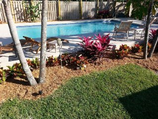 Island Vacation home w/ Private heated Pool, 3BR/3BA