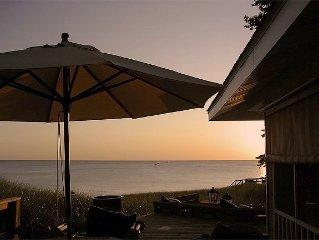 Charming private beachfront Home on Lake Michigan