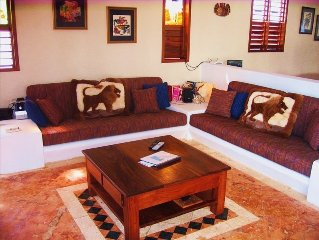 Beach front villa -Mahahaul-Costa Maya-Diving- -Family oriented-quiet