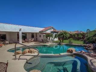 Spacious home with heated pool and spa! Call now to book your next trip!