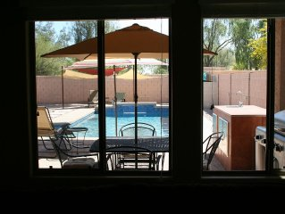 3 Bedrm Private Heated Large Saltwater All Day Sun Pool Outdoor Stereo Speakers!