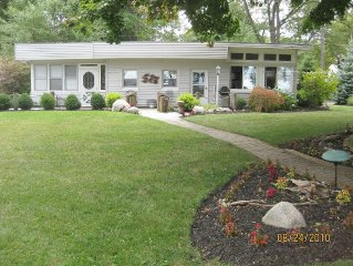 Madison-on-the-lake, Madison Ohio, Beautiful Home with Private Beach.