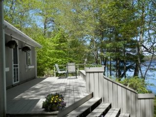 BOOK NOW at Lazy Loon Lakefront Cottage near Camden