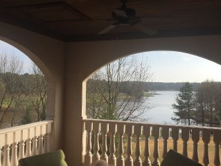 Huge Lake Views and #1 Golf Course!  2-BR Luxury Villa At Cuscowilla