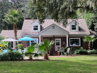 ISLAND RIVERFRONT ESTATE HOME WITH DEEP WATER DOCK & INGROUND POOL