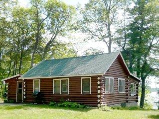 Vintage Lakeside Log Cabin with Panoramic Views ... Fish, Swim, Relax!
