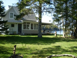 Maine Island Beachfront Cottage with Magnificent Views of Penobscot Bay