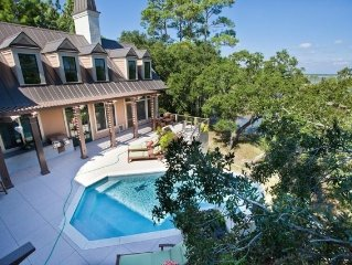 Luxury Estate. Secluded Folly Beach Home with Infinity Pool!