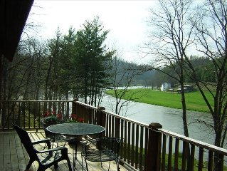 5 Star Riverfront Home on New River in NC's Blue Ridge Mtns & Parkway  sleeps 6