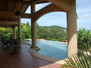 Private, Contemporary 4 Bedroom Ocean View home w/infinity pool and 2 King Suite