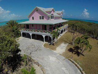 Las Breezes 5 Bedroom Villa, With 1/2 Mile Private Beach On Hooper's Bay