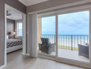 High end, newly remodeled, direct oceanfront, top floor, corner unit