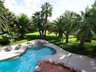 Next to LV Blvd Large Privet Custom Home 2 Acres of Land with Pool!