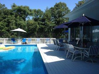 Hampton Resort  Getaway, Westhampton,Quogue Vacation Rental With Pool And Tennis