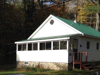 Classic Maine Lakefront Cabin, Porch and Canoe
