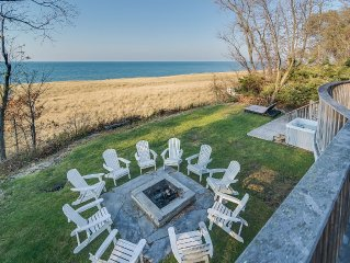 Unbeatable Lake Front/Private beach New Buffalo Home, 6 Bed, 5.5 bth  4k sq ft