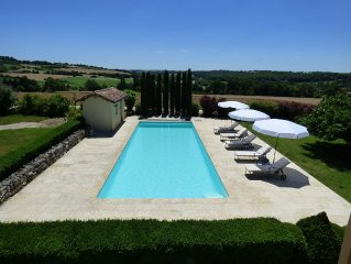 Peaceful Gascon Cottage With Swimming Pool And Tennis Court - Near Condom