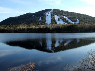 Summer on Moose Pond and Shawnee Peak Skiing across the street