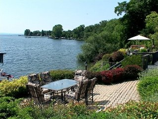 Lakeside Villa W/168' Sandy Beach, Amazing View of the Lake, Two Covered Decks!