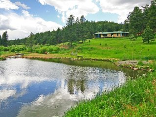 Mountain Villa, on 40 Acres, trout stream & private lake