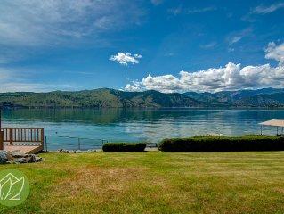 Northshore Lake Chelan Waterfront Retreat w/Priva