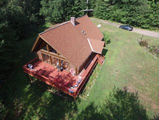 Sfa Lodge Log Cabin 4 Bd - 2 Ba Nestled In The Woods 5 Mins From Berkshire East