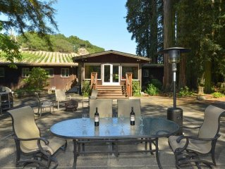 Vineyard house on a 26 acre creekside property Wonderful for all ages