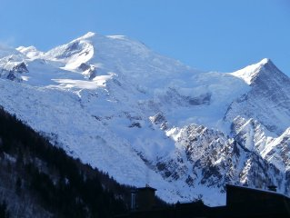 Central, Spacious - 50 m², renovated, 2 balconies, view of Mt Blanc, parki