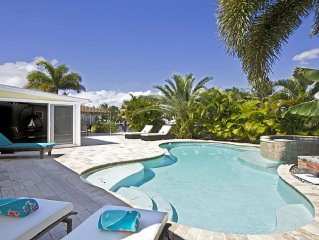 Private Tropical Oasis on Waterway with Heated & Cooling Salt Water Pool/Spa