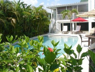 Elegantly Casual Caribbean style beach home with spectacular heated pool