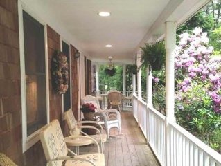Secluded Hampton Retreat on 1.6 Wooded Acres, Pool, hot tub, minutes from beach