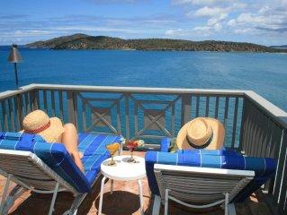 WOW! St. Thomas Waterfront Villa with Million Dollar Views, Tiki Bar, Pool & Spa