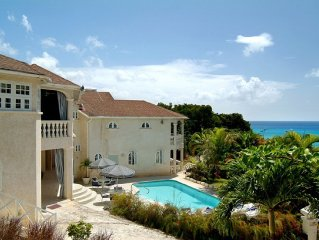 Barbados luxury beach villa -  private pool, ocean views, colourful sunsets, car