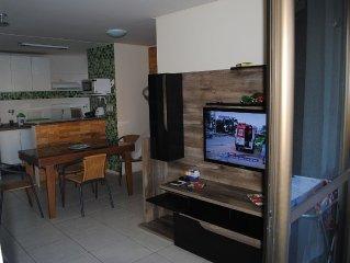 Apartamentos mobili, ,Vist. Mar 2 Q. AR, com WI-FI-Academia.