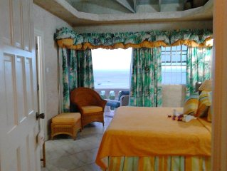 5 bedroom villa near beach- ocean views-2 pools, WIFI,car,A/C,full staff