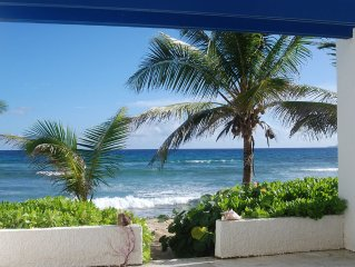 Relax, Quiet, Breeze with sounds of surf ..... Enjoyable Beach Front Condo