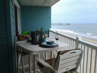 Oceanfront  condo in OBX Fully Renovated 2 Bedroom, 2 Bath Condo On The Beach