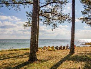 Beachfront Estate on the Chesapeake Bay, Private Beach & 30-Mile View