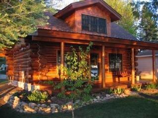 Log Home on Manistee Lake