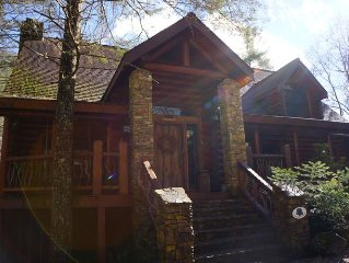 Luxury 4300 Sq. Ft. Rustic Log Cabin on Stream 'Shadow's Creek'