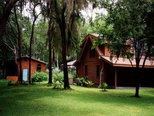 Lakefront, Pool-Heated Screened, Hot Tub,  Log Home,  & Rec House