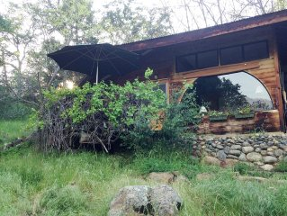 Private guest cottage with mountain, meadow views, 4 miles from Sequoia Park