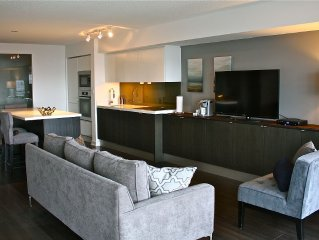 Luxurious, Modern & Spacious 2 BR Condo Downtown -Balcony, WIFI & Parking