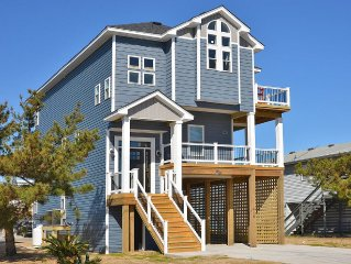 New! Great Ocean Views! Beautifully Decorated and just 150 yds from beach!