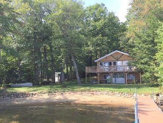 Beuatiful home with clear Sandy bottom Lakefront and Dock on Lake Winnisquam!