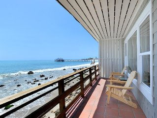 Fabulous Oceanfront Cottage On Dry Sandy Carbon Beach – Pelican